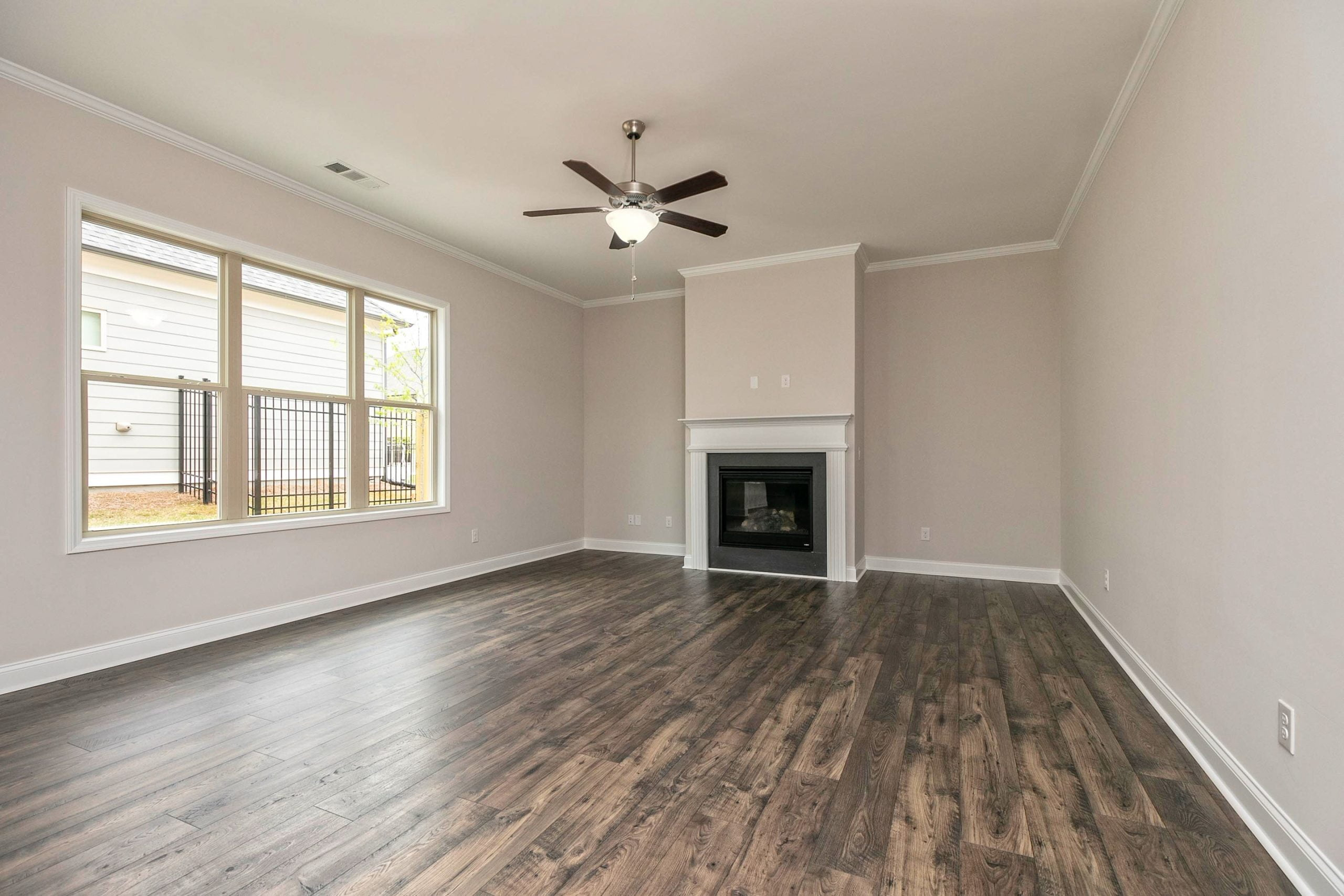 Virtual staging living room before